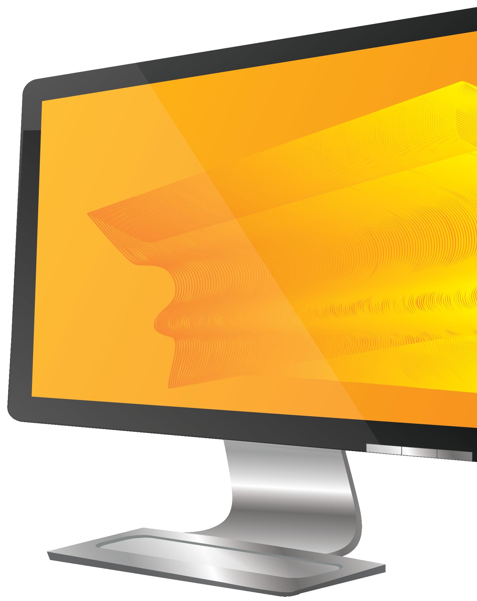 computer monitor screen orange